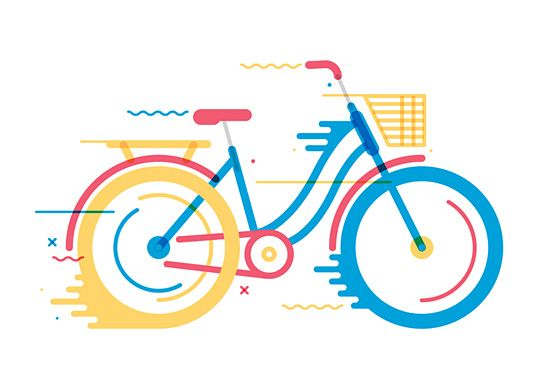 Bicycles: Illustration Series by Daniel González | Inspiration Grid | Design Inspiration