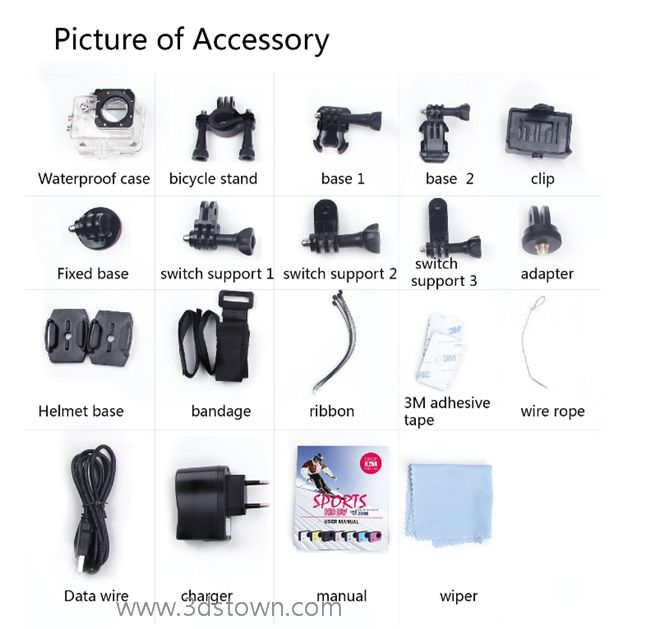 Free Shipping Waterproof Portable Camera SJ4000