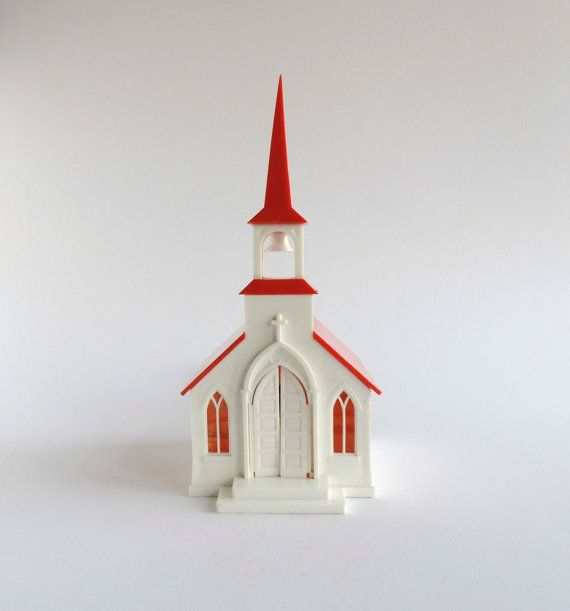 Vintage Illuminated Church by Bush Chicago Hard by TheLogChateau