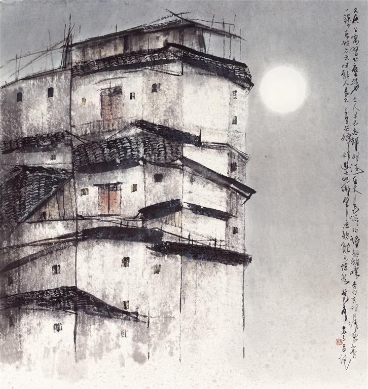 蔡友 周莊憶舊 64×69 cm 2013