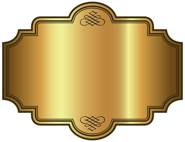 Golden Luxury Label Template Clipart Picture