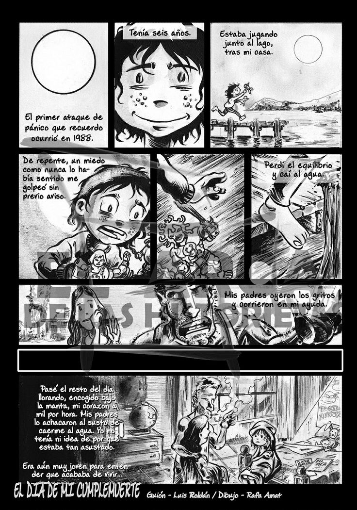 El día de mi Cumplemuerte ~ Guión: Luis Roldán ~ Dibujo: Rafa Amat ~ Próximamente en El Arca de las Historietas nº1 ~ www.elarcadelashistorietas.com