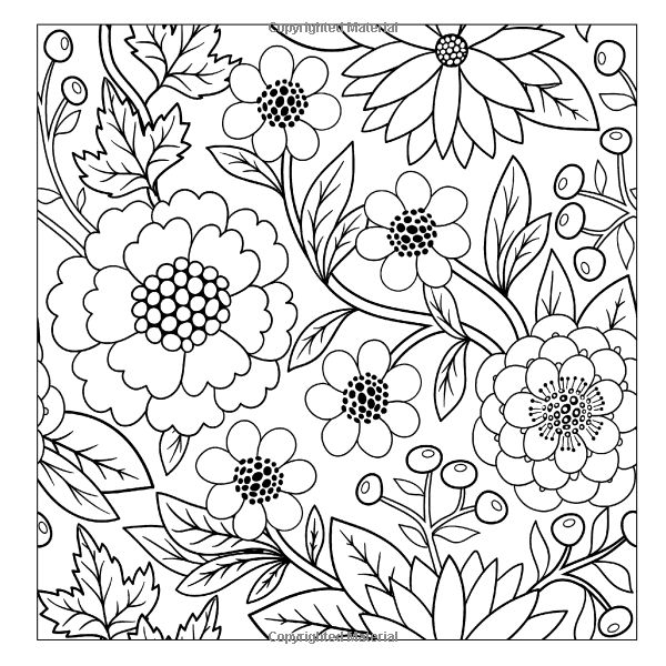 Beautiful Floral Designs And Patterns Flower Garden Coloring Book Sacred Mandala