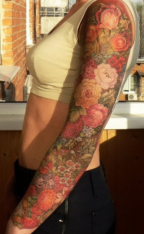 45 Astonishing Examples of Sleeve Tattoo Ideas - not all the pics are great, but this one is awesome!