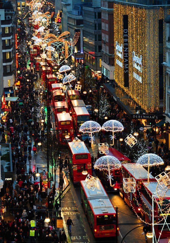 Oxford Street, London at Christmas - still one of my favourite shopping streets in the world