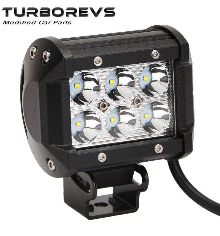 18W CREE LED FLOODLIGHT WORK LIGHT LAMP CAR VAN TRUCK 4X4 RECOVERY TRAILER