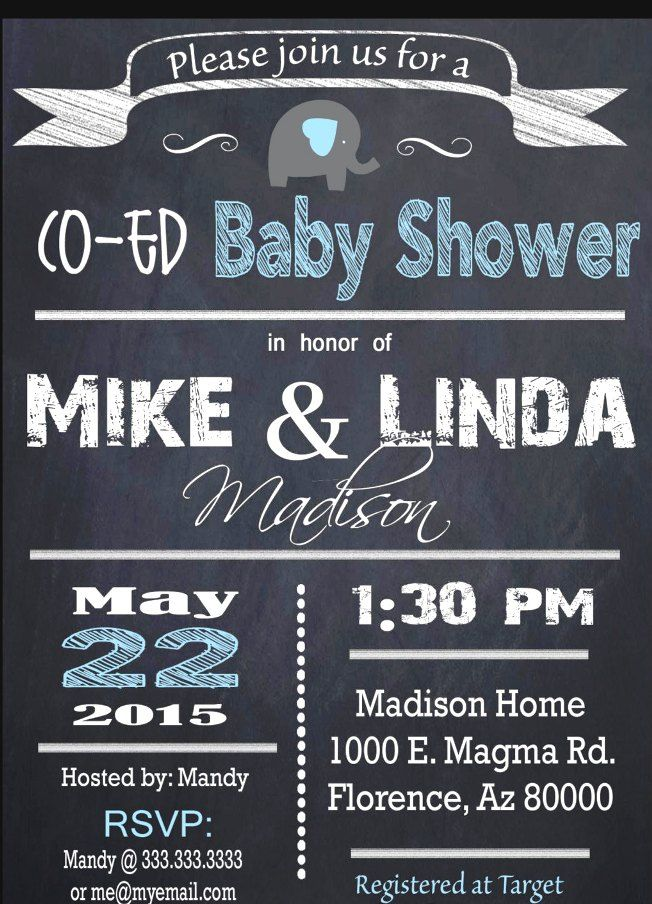 couples baby shower invitation wording 6