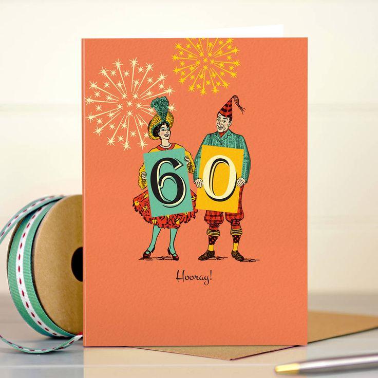 Funny 60th birthday card 60 hooray in 2020 60th