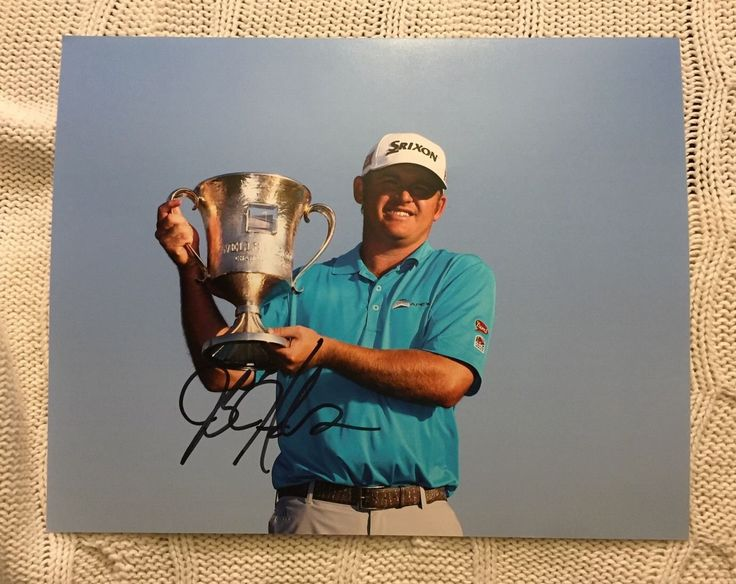 JB Holmes Signed Pga Tour Golf 8 X 10 Photo Autographed