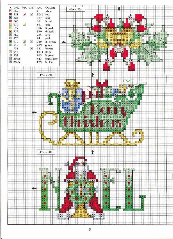 Punto de cruz gratis muchos dise os navide os cross for Disenos de punto de cruz