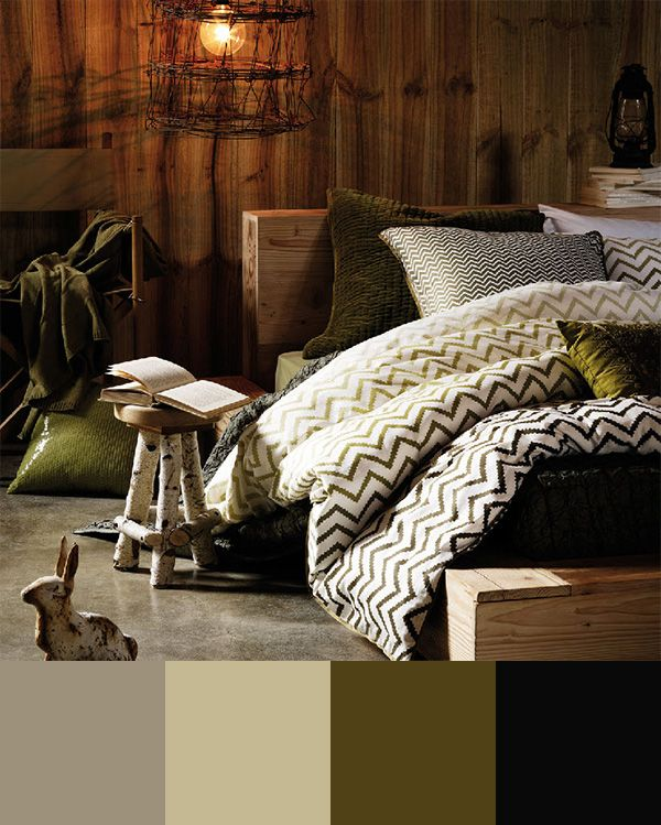 Color Schemes: Green and Browns. Try using them if you are looking into creating a more naturalistic interior. #housetrends