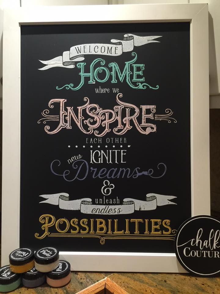 Chalk Couture Welcome Home Chalk Transfer