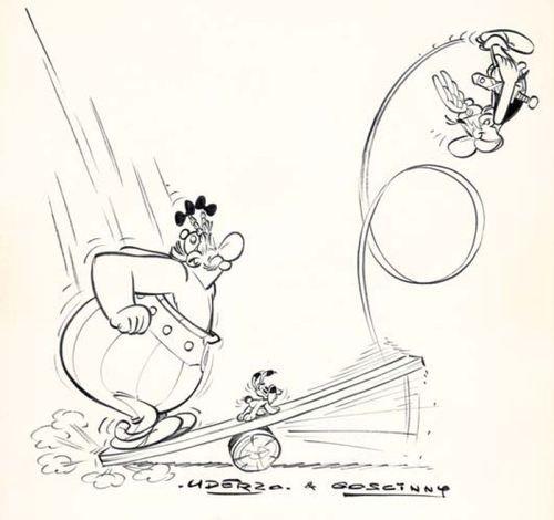Dessin pour le Gala de l'union des artistes, 1969    Albert Uderzo