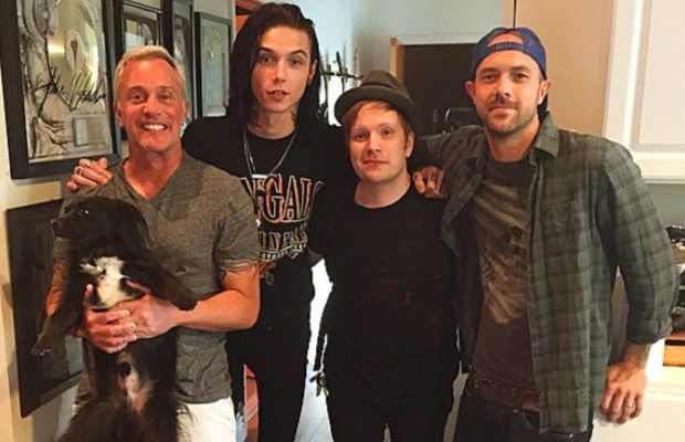 Andy Biersack recording with Patrick Stump, the Used's Quinn Allman>>>> OMG I have to hear this!!!