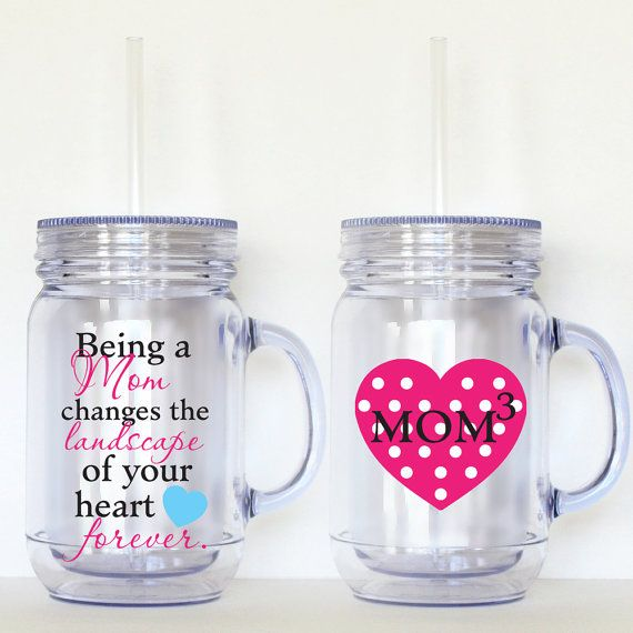 Being a Mom Mason Jar Acrylic Personalized Cup by SweetSipsters, $17.00