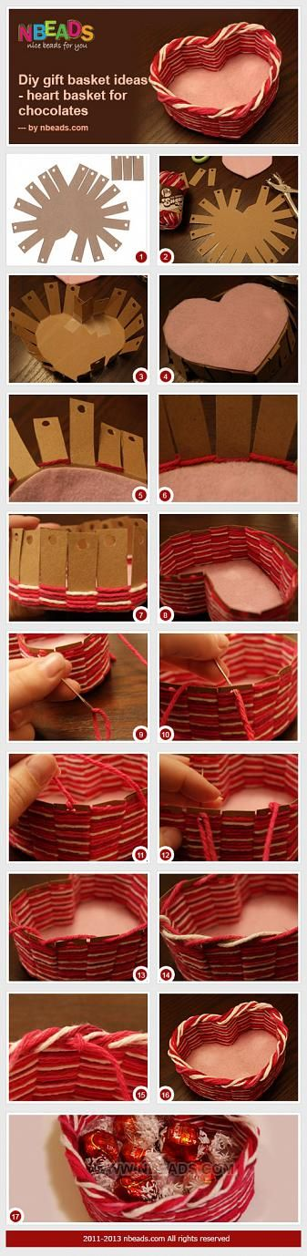 DIY Gift Basket Ideas - Heart Basket for Chocolates – Nbeads