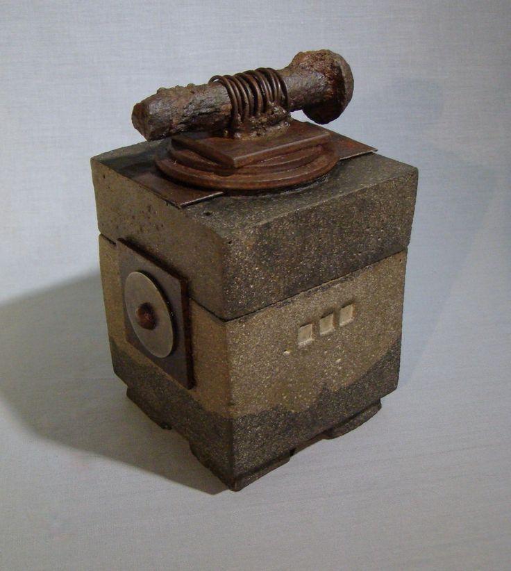 SPIKE - A Lidded Concrete Box. via Etsy at CeremonialHome shop