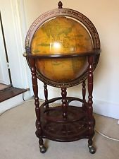 lovely globe atlas drinks cabinet trolley bottle holder