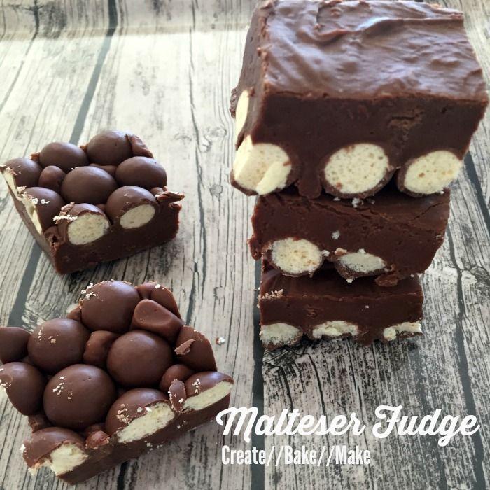 Chocolate and Malteser Fudge Recipe Desserts with Maltesers, sweetened condensed milk, milk chocolate, chocolate melting wafers