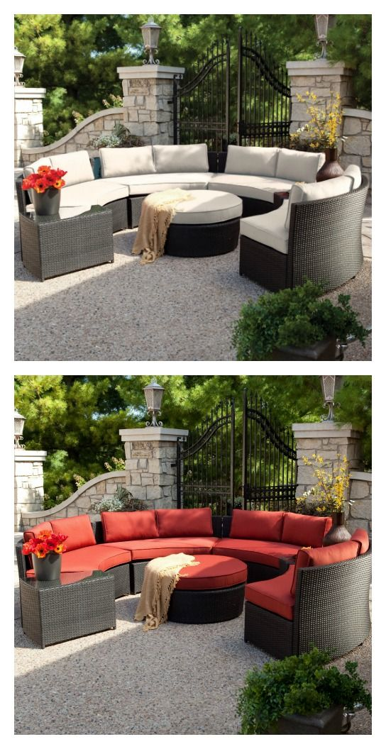 Belham Living Meridian Round Outdoor Wicker Patio