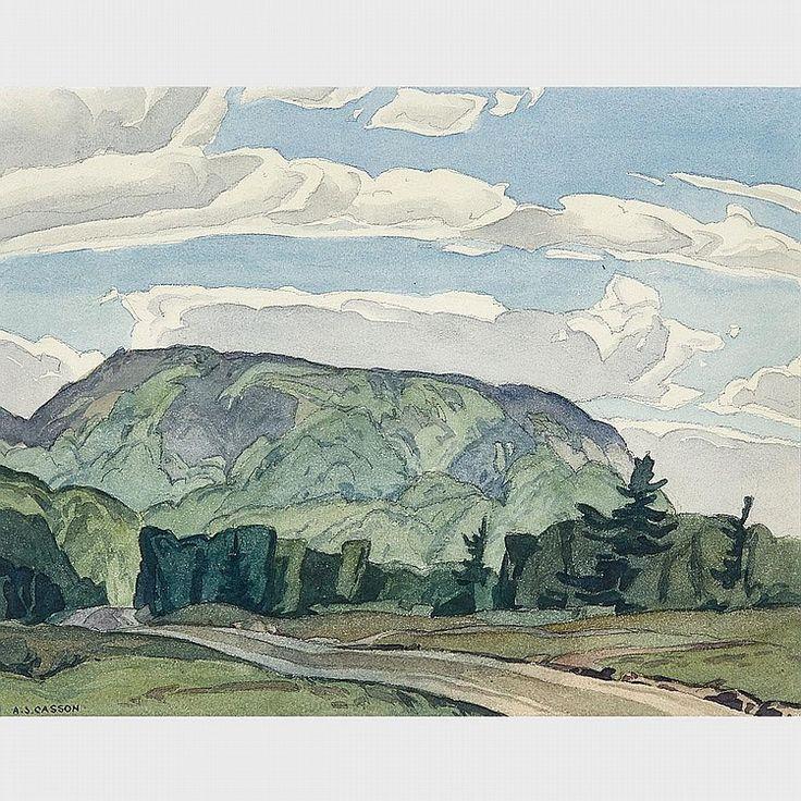 A.J. Casson - McGarry Flats #1 Near Bancroft 11.25 x 15.5 Watercolour (1955)