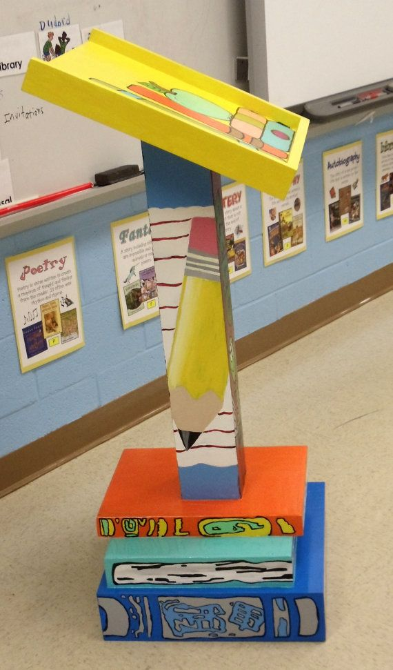Personalized TEACHER Pedestal/ Podium by SouthernYankeeWorks, $200.00
