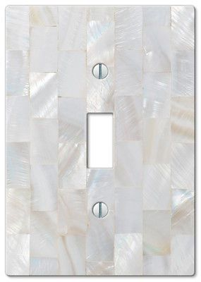 details about wallplate switch plate outlet covers pearl capiz shell white decorative mosaic - Decorative Outlet Covers