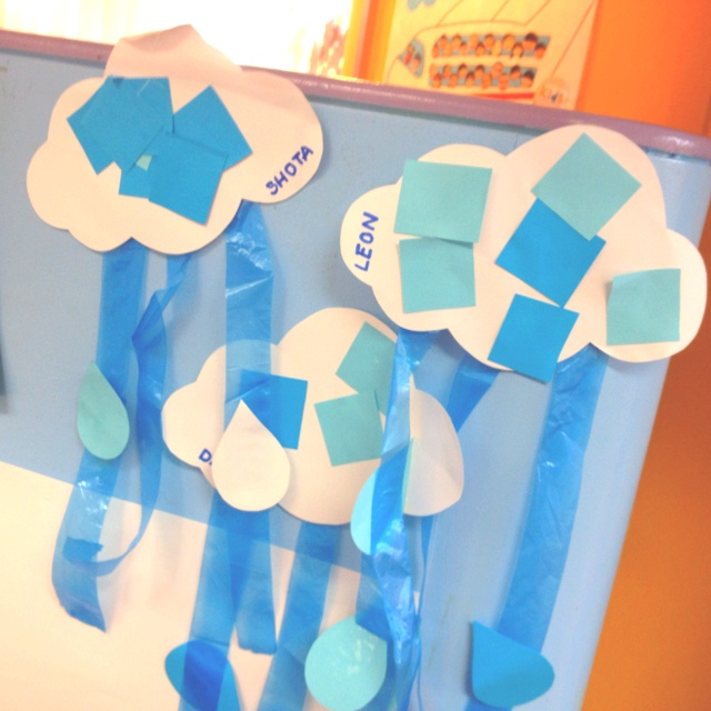 Rain Cloud Craft Seasons And Weather Spring Crafts Crafts Weather