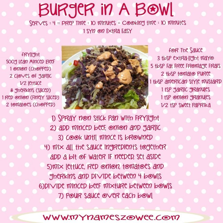 MyNamesZowee: Burger In A Bowl