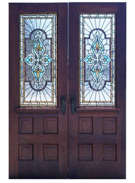 17 best images about stained glass doors on pinterest for Wooden back doors with glass