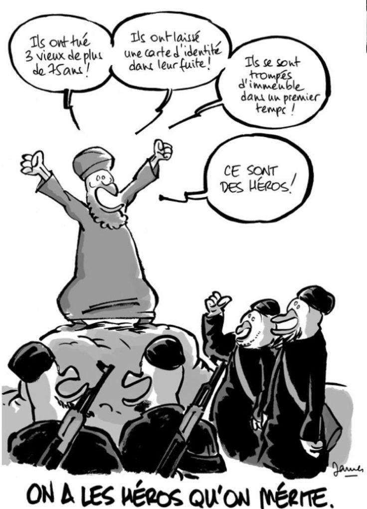 Charlie Hebdo : l'hommage «umour et bandessinées» de «Fluide Glacial» - Libération #jesuischarlie #charliehebdo