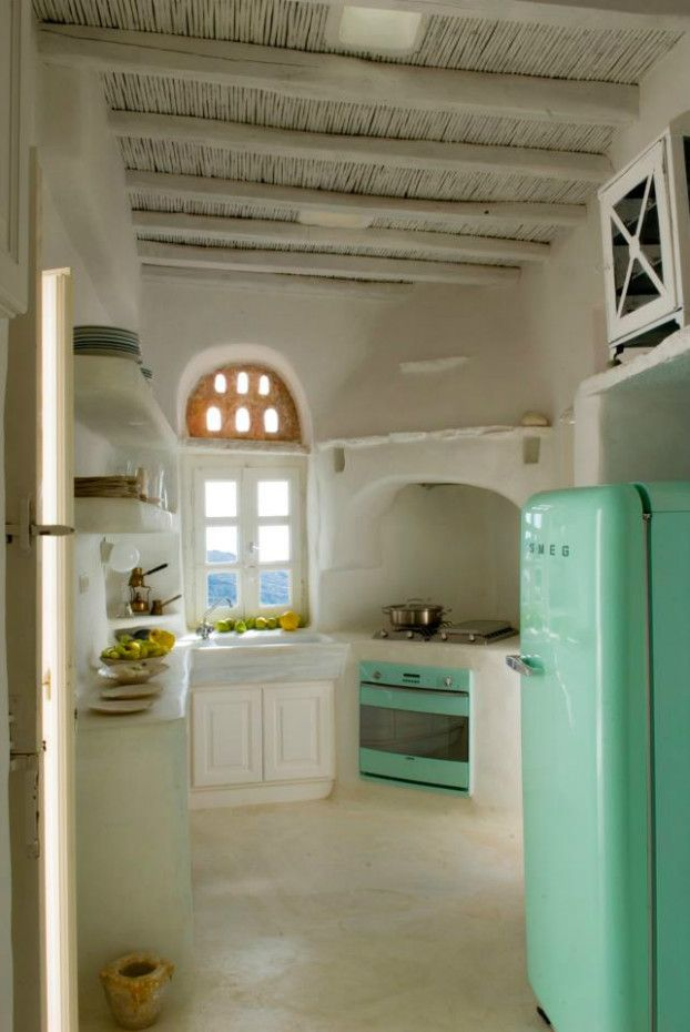 Traditional House In Greek Island by Zege10  This could translate well into adobe or earthship design