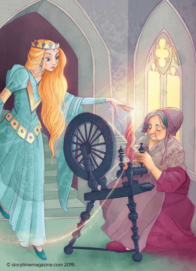 Our stunning Sleeping Beauty from Storytime Issue 20. Illustrated by Alessandra Fusi (http://www.alessandrafusi.com). Subscribe today to read it at STORYTIMEMAGAZINE.COM