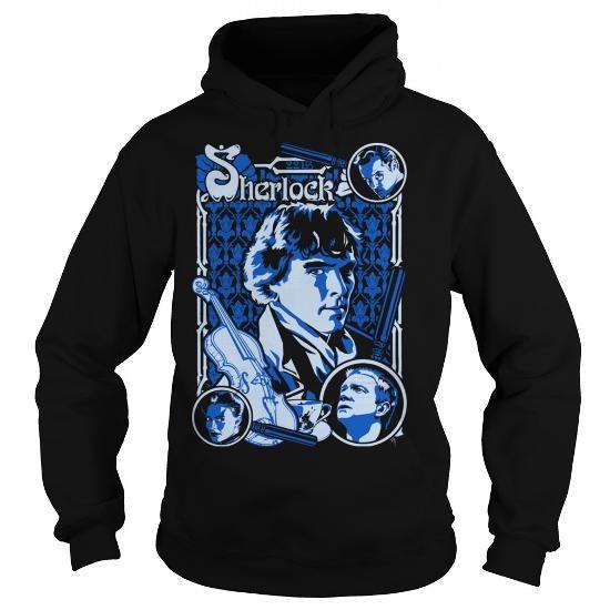 Cool Sherlock Woodcut funny shirts T-Shirts