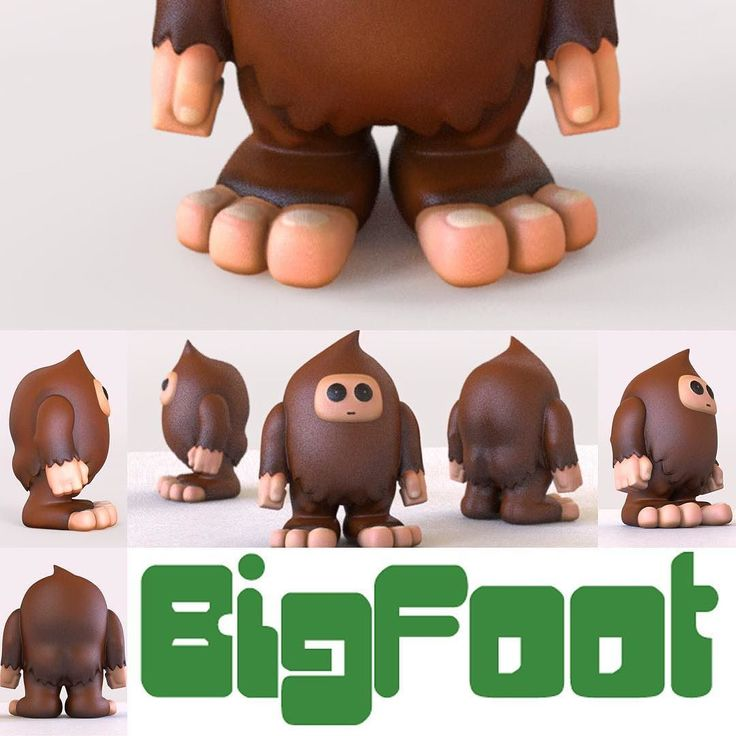 I finished my BigFoot design. It was inspired from a doodle I made on vacation! No I did not see any Bigfoot in France. You can print this design from Pinshape if you have a stream printer! #bigfoot #toy #3dprinting #3dprintable #diy #pinshape #creaturedesign #cryptozoology #sasquatch #characterdesign #zbrush by doodle_mon_key