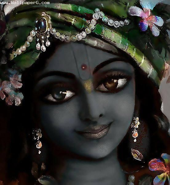 Download Krishna ji painting - Spiritual wallpaper for your mobile cell phone