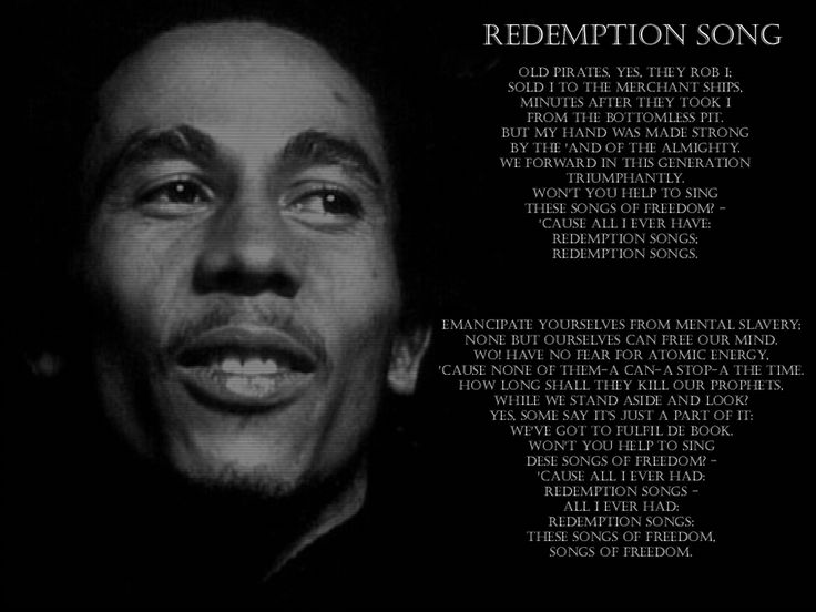 bob marley-redemption song