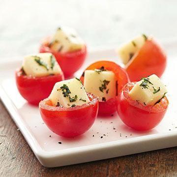 Caprese Stuffed Cherry Tomatoes