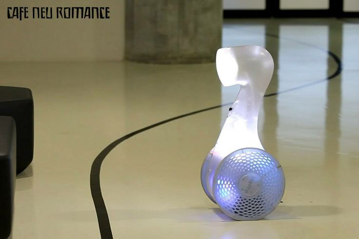 Jindrich Vodicka (CZE): Tvor. Mobile autonomous light robot. Info: http://cafe-neu-romance.com/press-media/cnr-2013/cnr-2013-exhibition-jindrich-vodicka-%28cze%29  Video: a) https://vimeo.com/83394462 b) http://youtu.be/vEVGnisMs2Y