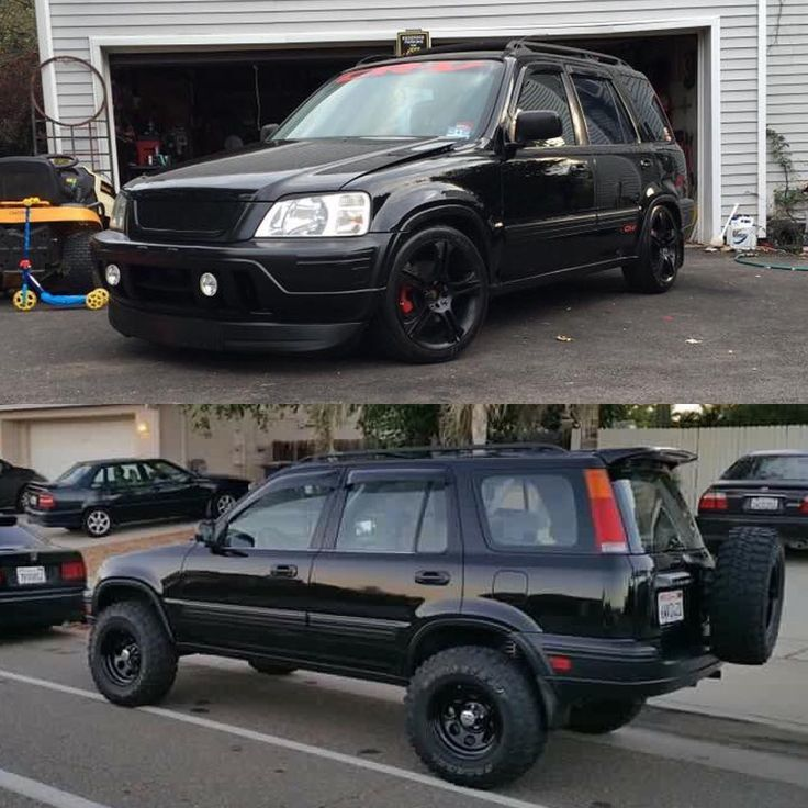If you had to choose just one which one would you pick? #toporbottom? #honda #crv #rd1 #slammed #lifted ...