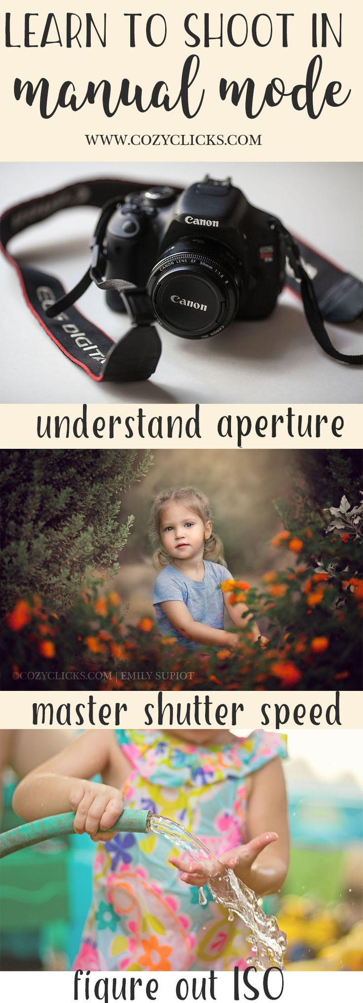 If you're a new photographer, learn the easy way to shoot in manual mode right here! Photography tips focusing on shooting in manual mode.