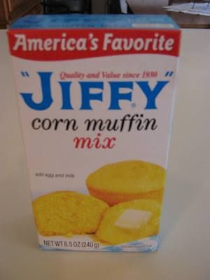 Make your own jiffy Cornbread mix at home in under 5 minutes and for around 30 Cents each! Here's what you need: Ingredients (Recipe Adapted from Food.com): 2/3 Cup Flour 1/2 Cup Yellow Cornmeal 3 Tablespoons Sugar 1 Tablespoon Baking Powder 1/4 teaspoon Salt Add all ingredients into a quart sized freezer bag give it a good shake to mix. Write your instructions on the bag as follows: Jiffy Cornbread Mix: Add: 1 Egg, 1/3 Cup Milk, 2 Tbsp Vegetable oil Bake at 400 Degrees for 15-20 min.