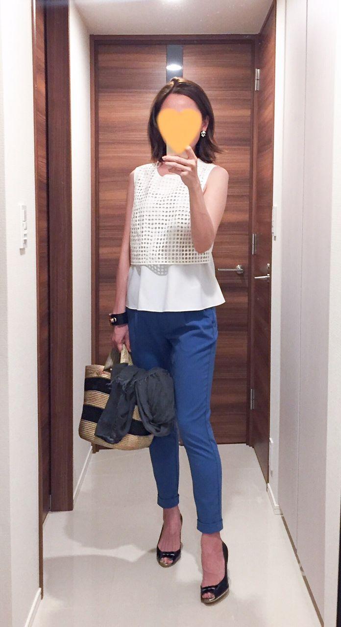 - Top: Rie Miller - Pants: Sisley - Bag: Caterina Bertini - Pumps: Pellico