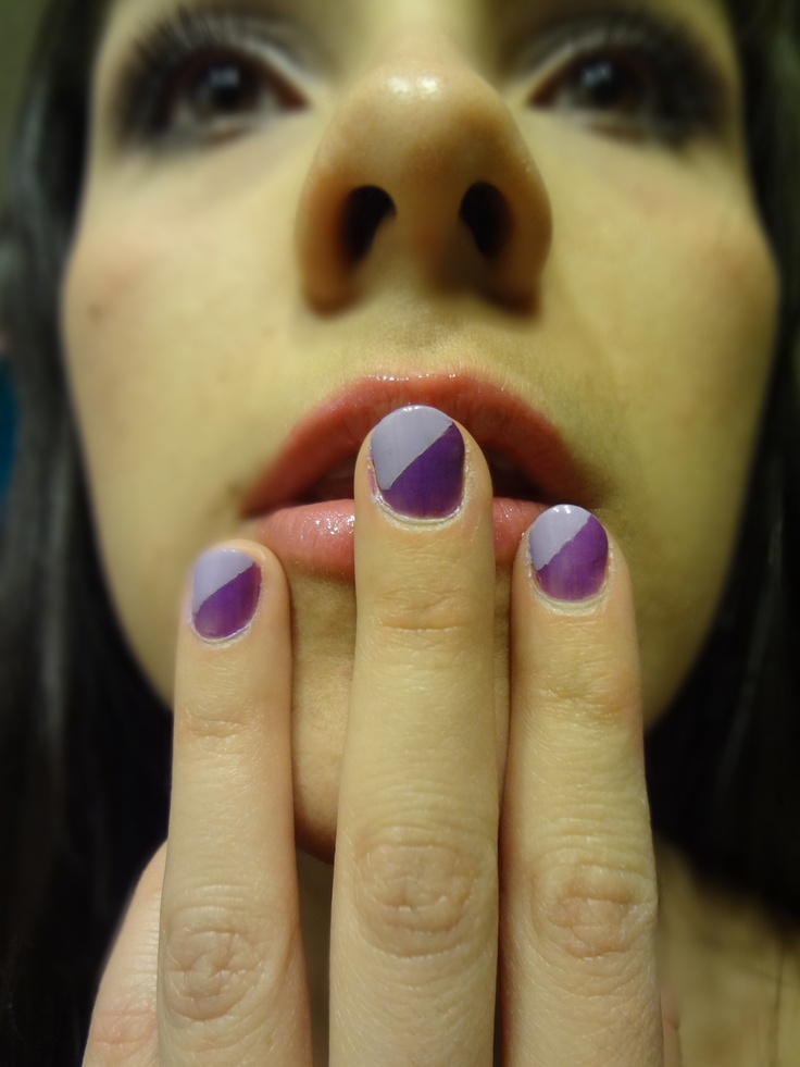 My own nails, purple and lilac
