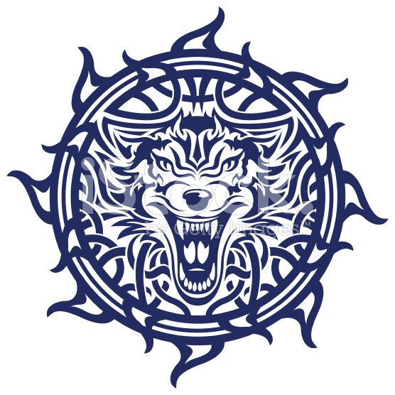 die besten 25 tribal wolf tattoos ideen auf pinterest wolf design keltisches stammes tattoos. Black Bedroom Furniture Sets. Home Design Ideas
