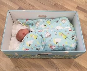 Finnish Baby Box In Finland you can get of newborn essentials and a box that the baby can sleep in. Lowest mortality rate
