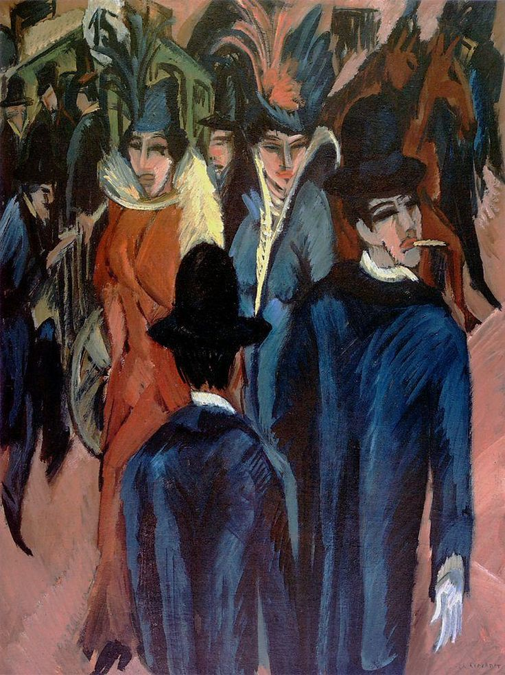 Ernst Ludwig Kirchner, Berlin Street Scene, 1913, oil on canvas (Private collection)
