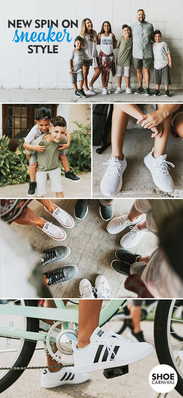 Pick up some classics for back to school at your Shoe Carnival so your whole family is set to rock a new spin on the first day. Head to your store to shop Nike, Adidas, Skechers, and more.