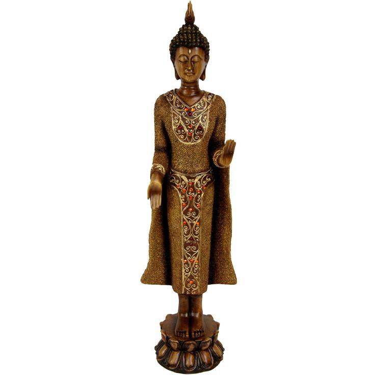 Oriental Furniture Standing Thai Buddha Statue - STA-BUD24