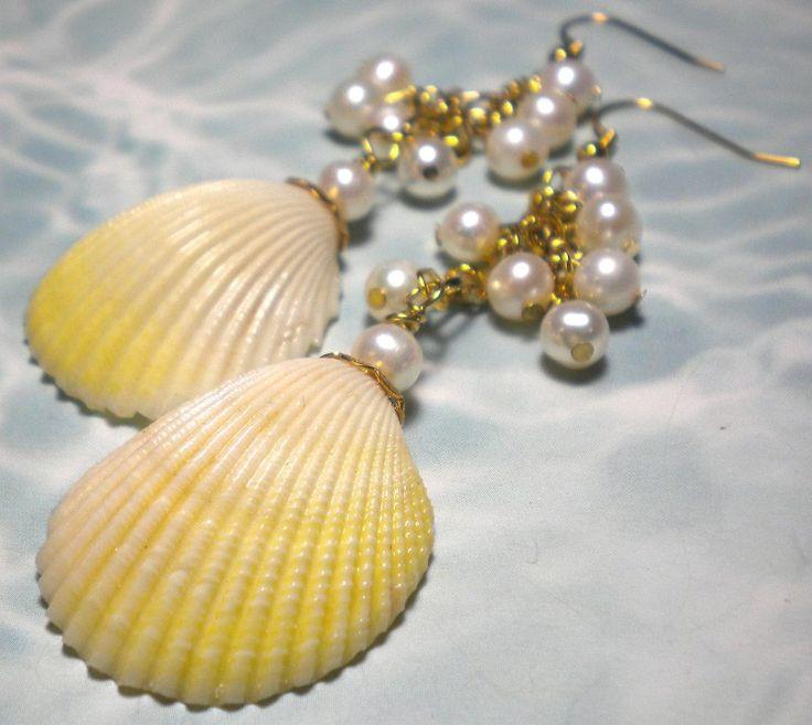 Украшения – серьги из морских ракушек